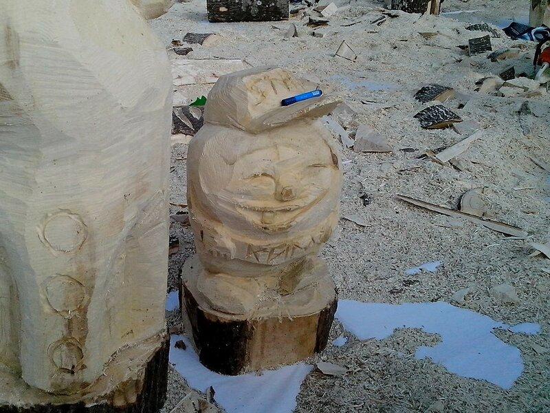 колобок (мастер Назаров Дмитрий Евгеньевоч) - скульптура конкурса «Лесная сказка»
