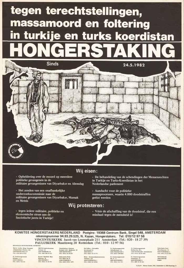 Голодовка (в Нидерландах) против казней, массовых убийств и пыток в Турции в турецком Курдистане