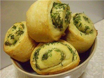 Сметанно-картофельные булочки с зеленью