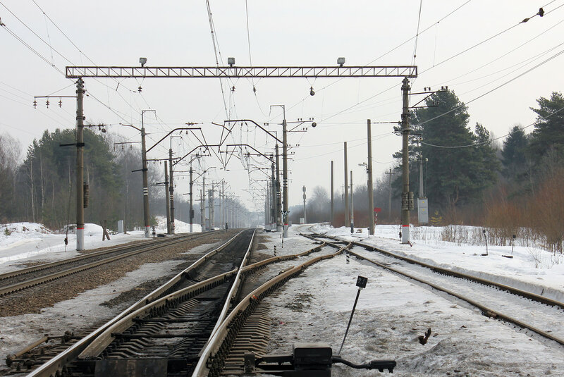 Станция Горы, вид на Мгу и Войтоловку
