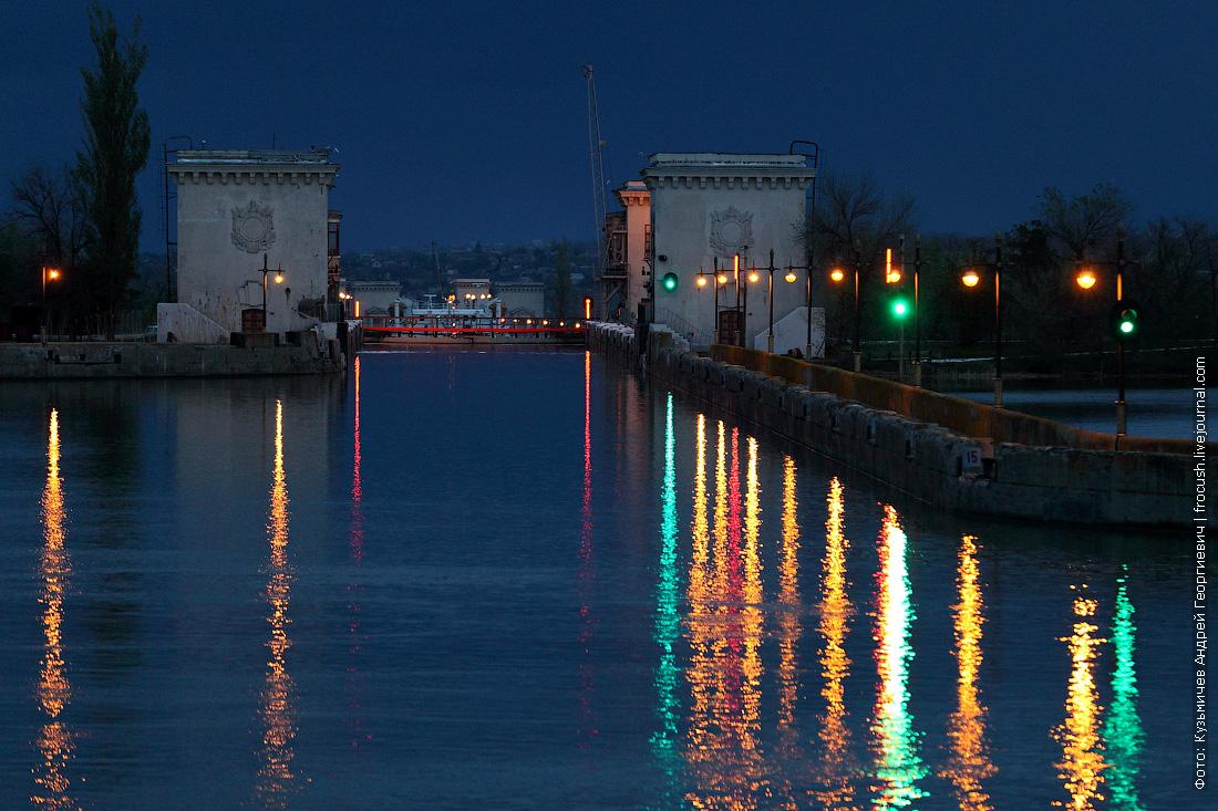 шлюз №8 Волго-Донского судоходного канала вечернее фото
