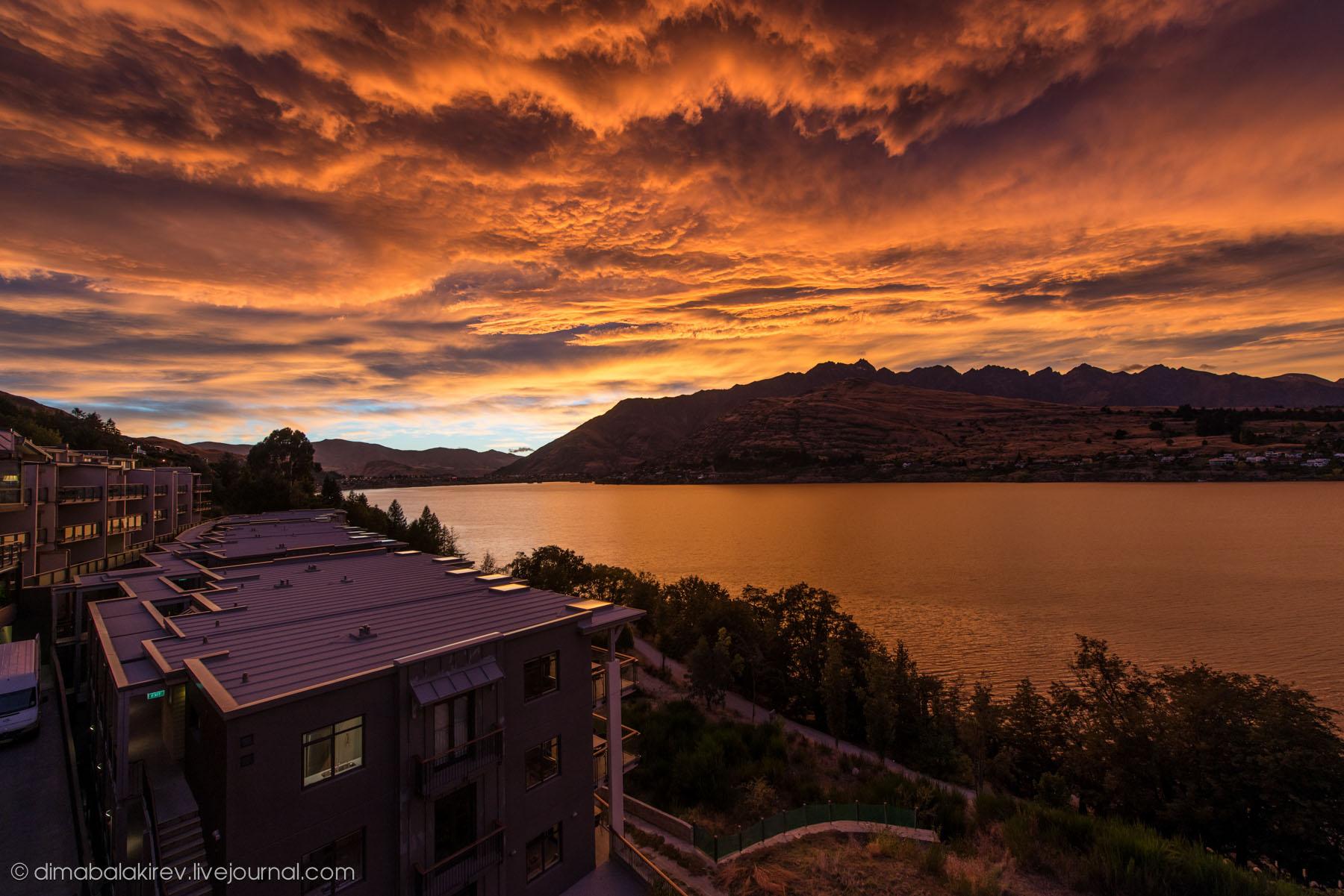 Восход в Новой Зеландии