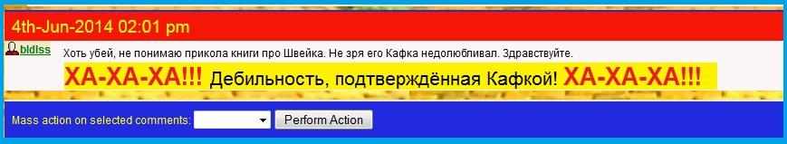 Кафка, Швейк, Гашек, ЛЖР