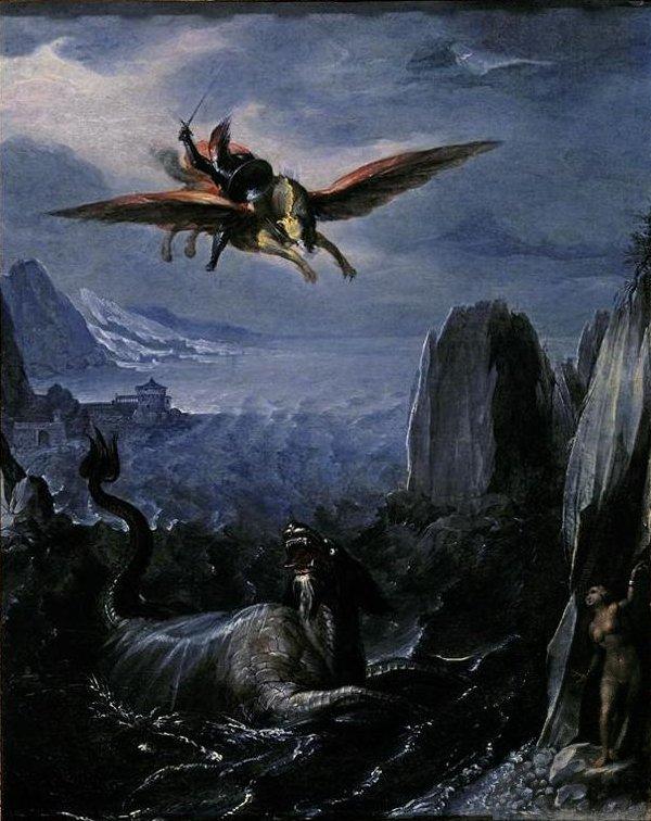 'Ruggiero_Saving_Angelica',_tempera_on_wood_panel_painting_attributed_to_Girolamo_da_Carpi_(Girolamo_Sellari),,_El_Paso_Museum_of_Art.JPG