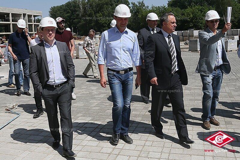 Леонид Федун и Виталий Мутко на «Открытие Арене»