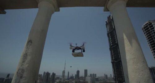Летающий робот для доставки пиццы