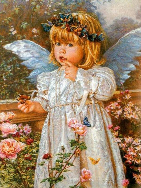 Дети-ангелы. Художница Sandrа Kuck