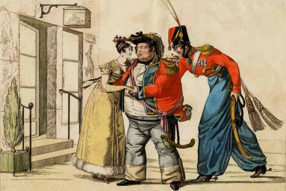 Англичанин с дамой, но предпочтение и руку она дает русскому офицеру Как сделать счастливыми сразу двоих.jpg