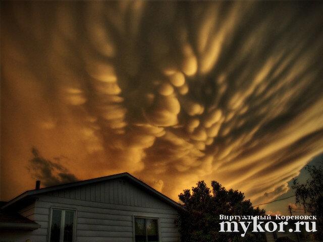 Вымеобразные облака фото