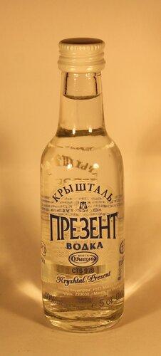 Водка Презент Крышталь Vodka Kryshtal Present