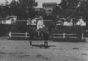 Кирасир, обер-офицер на коне.