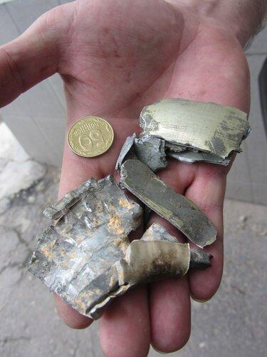 осколки с места взрыва