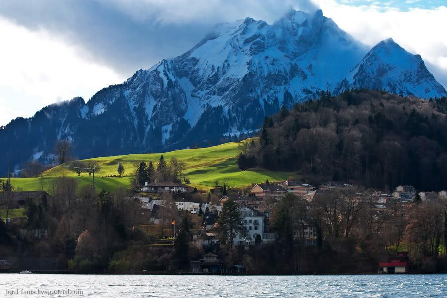 Швейцария. Часть II. Прогулка по Фирвальдштетскому озеру.