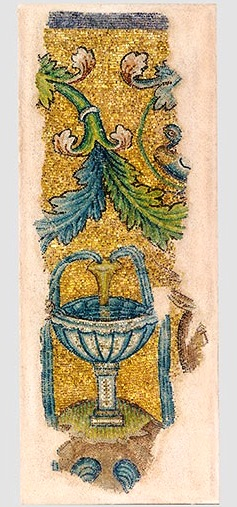 Wall Mosaic with a Fountain, about A.D.450, Thessaloniki, Greece; glass and gold. Courtesy of the Museum of Byzantine Culture, Thessaloniki.jpg