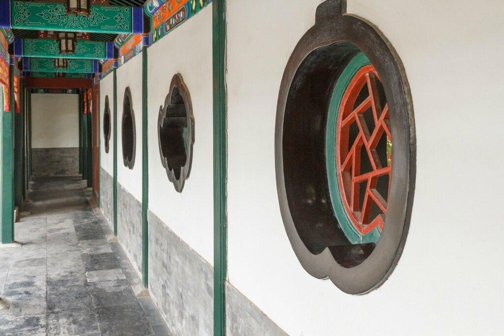 Галерея с окнами, резиденция князя Гуна, Гунванфу