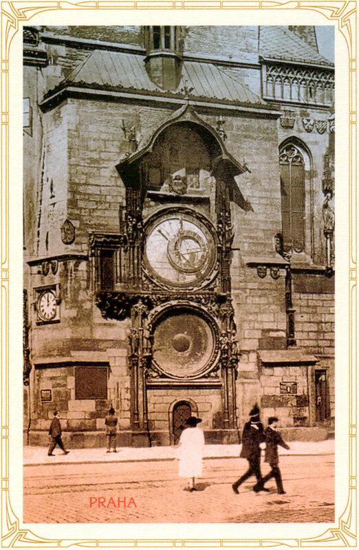 17. Астрономические часы-куранты (Орлой) на Староместской ратуше. 1924 год