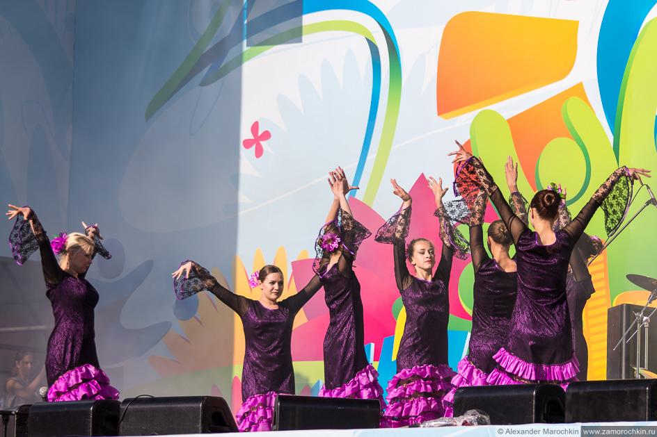 Танец Фламенко на фестивале FIFA Fan Fest в Саранске