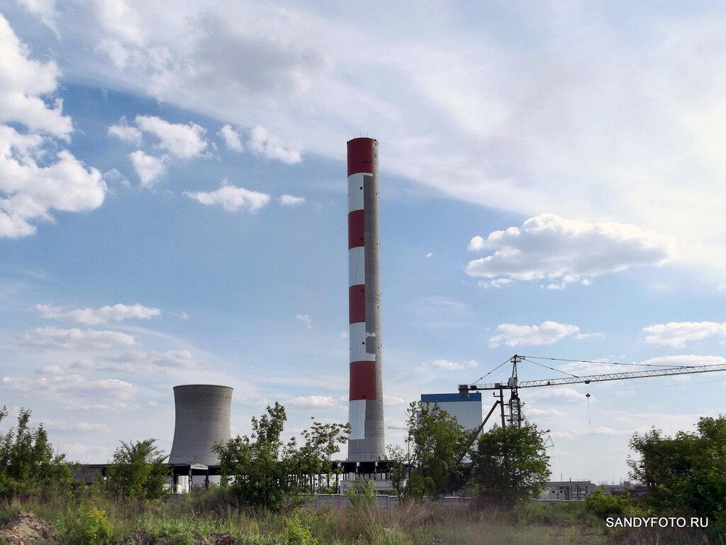 На Троицкой ГРЭС приступили к покраске трубы нового энергоблока