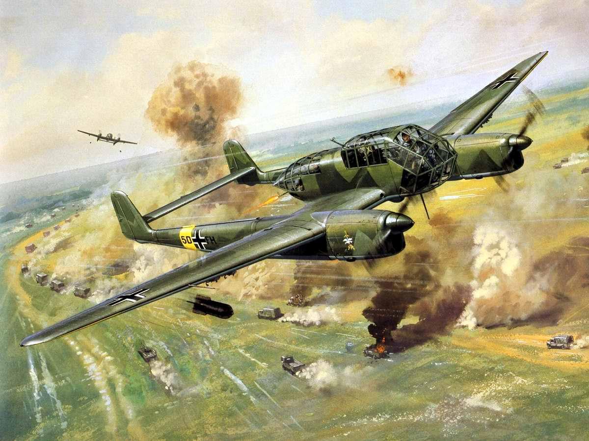 Немецкий разведывательный самолёт Focke-Wulf Fw 189 Uhu