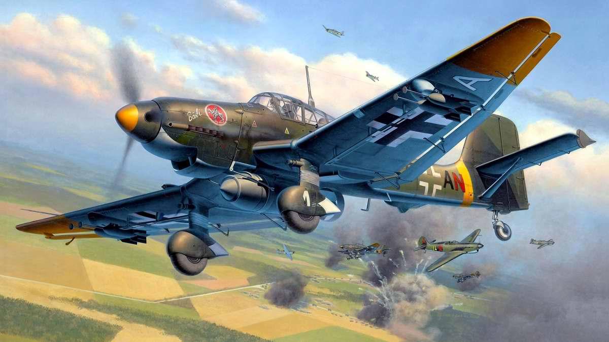 Немецкий пикирующий бомбардировщик и штурмовик Junkers Ju 87