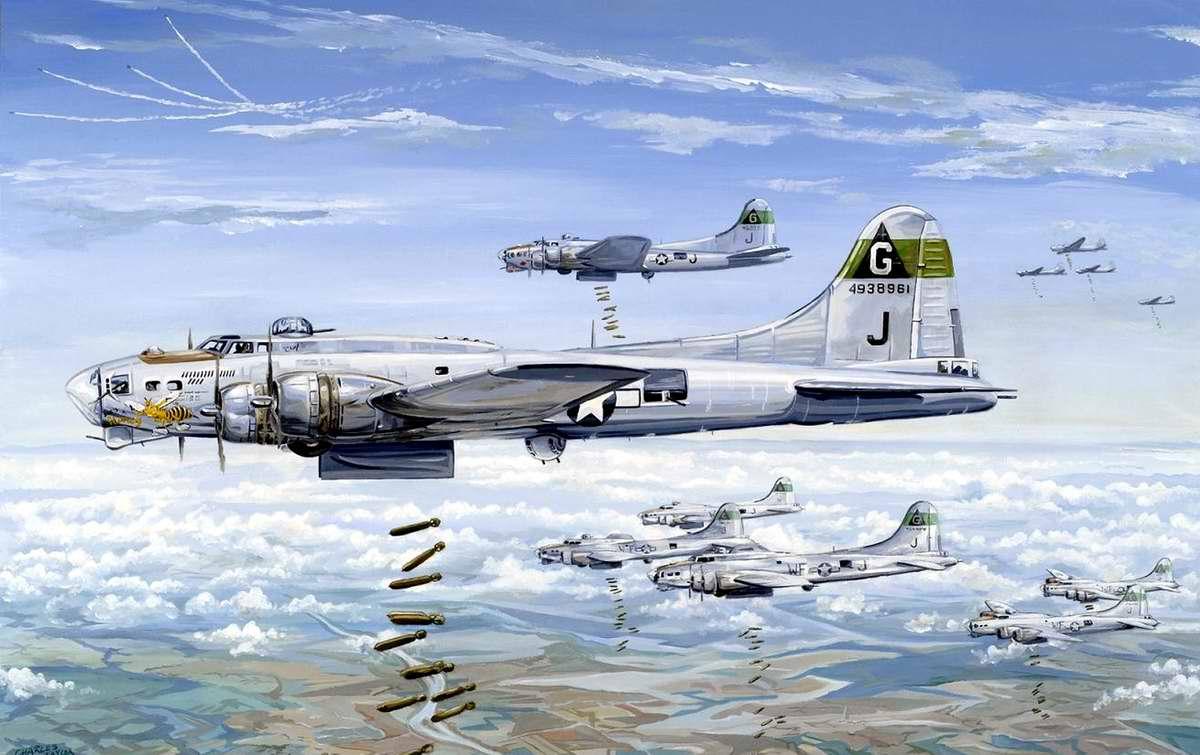 Американский тяжелый бомбардировщик B-17