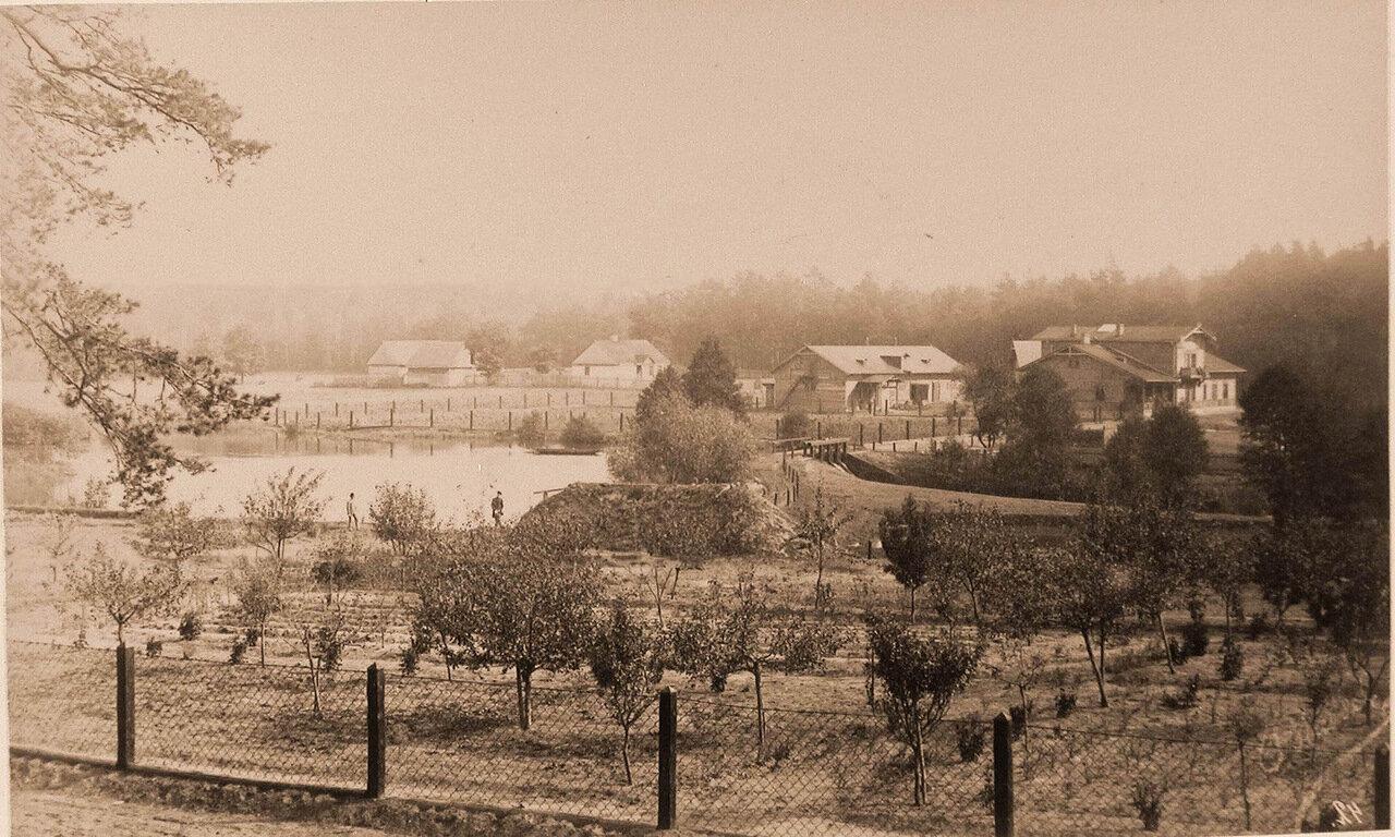 01. Вид части сада, жилых и хозяйственных построек близ царского охотничьего замка