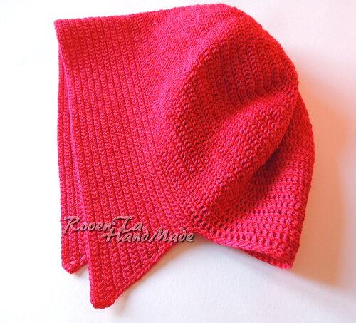 красная шапочка, шапочка для красной шапочки, шапочка крючком, roventa-handmade