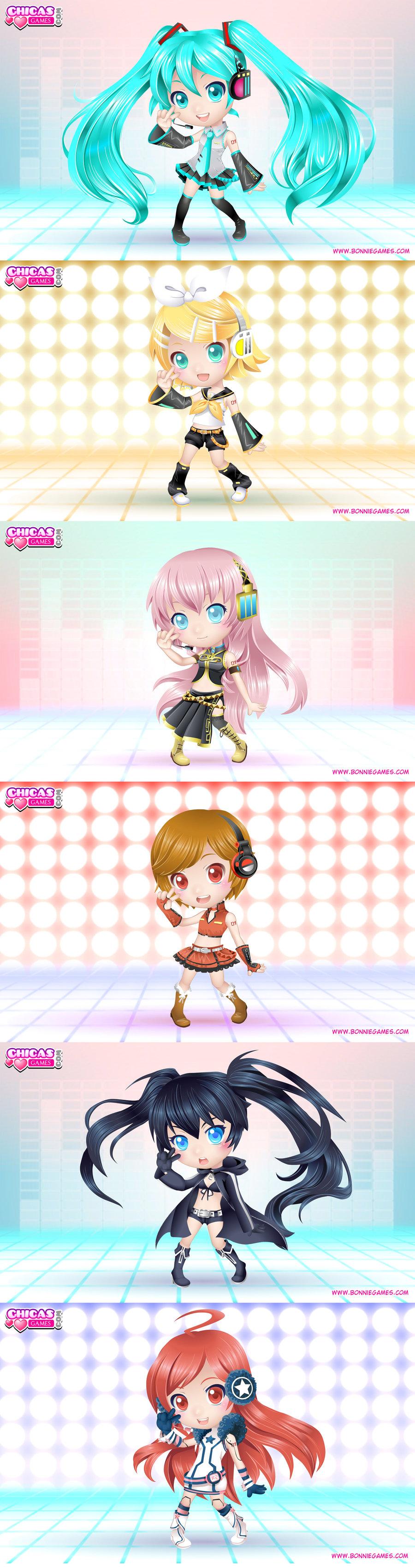 Флэш-игра Dress up Vocaloid