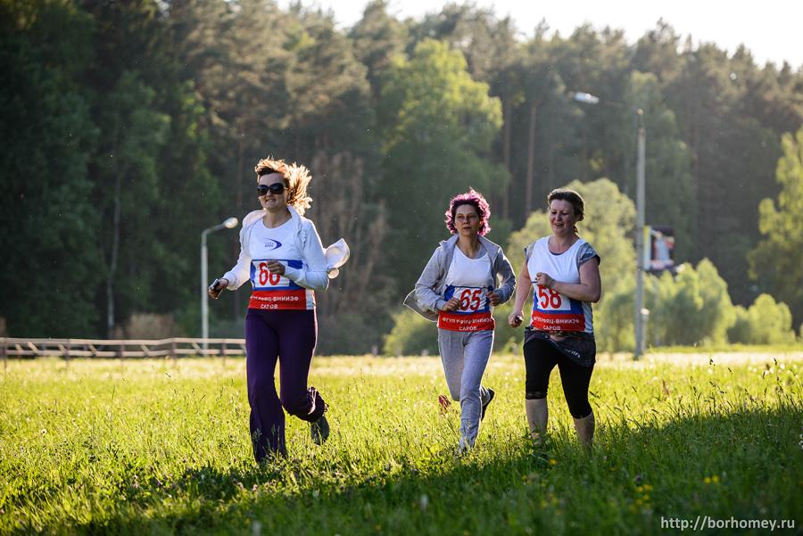 финиш забега женщин на 1 километр