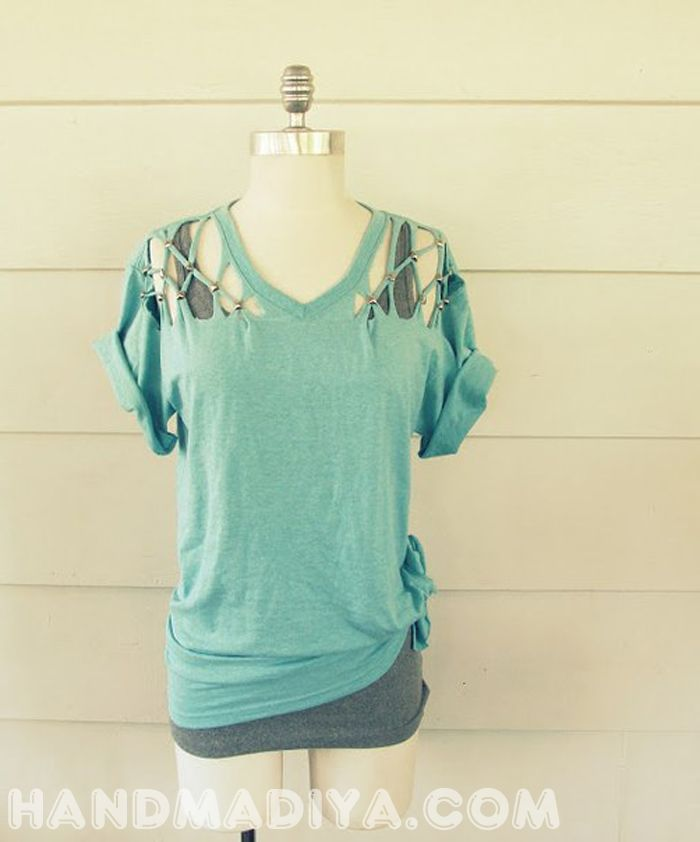 We remake a T-shirt in a stylish tunic.