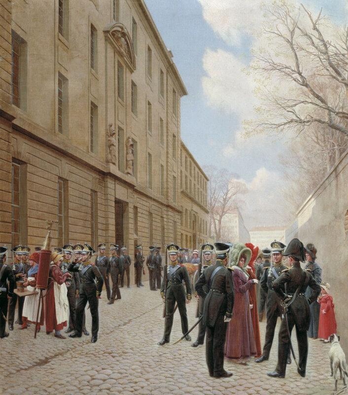 Розен И. С. Гвардейский экипаж  в Париже. 1814.jpg