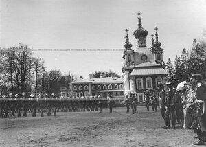 Парад лейб-улан в день полкового праздника.