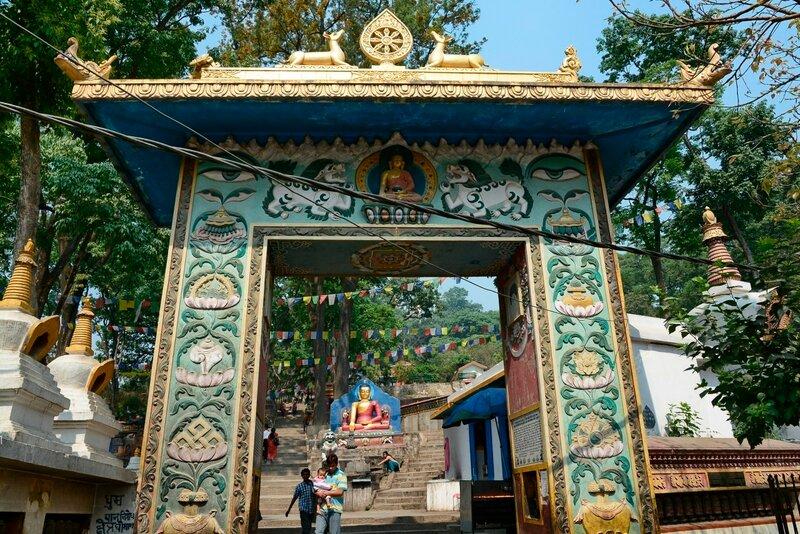 Ступа Сваямбунатх (Swayambhunath). Главный вход
