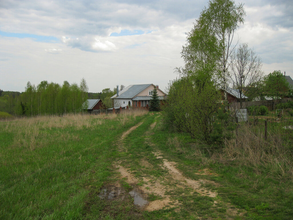 Дома на окраине Рождественно-Суворово