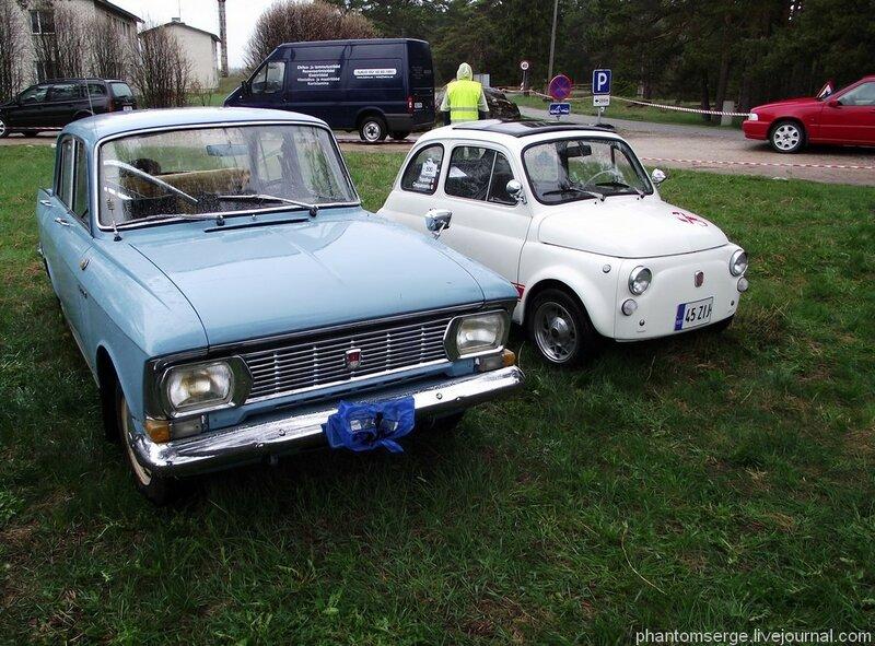 Москвич-412 и Fiat 500