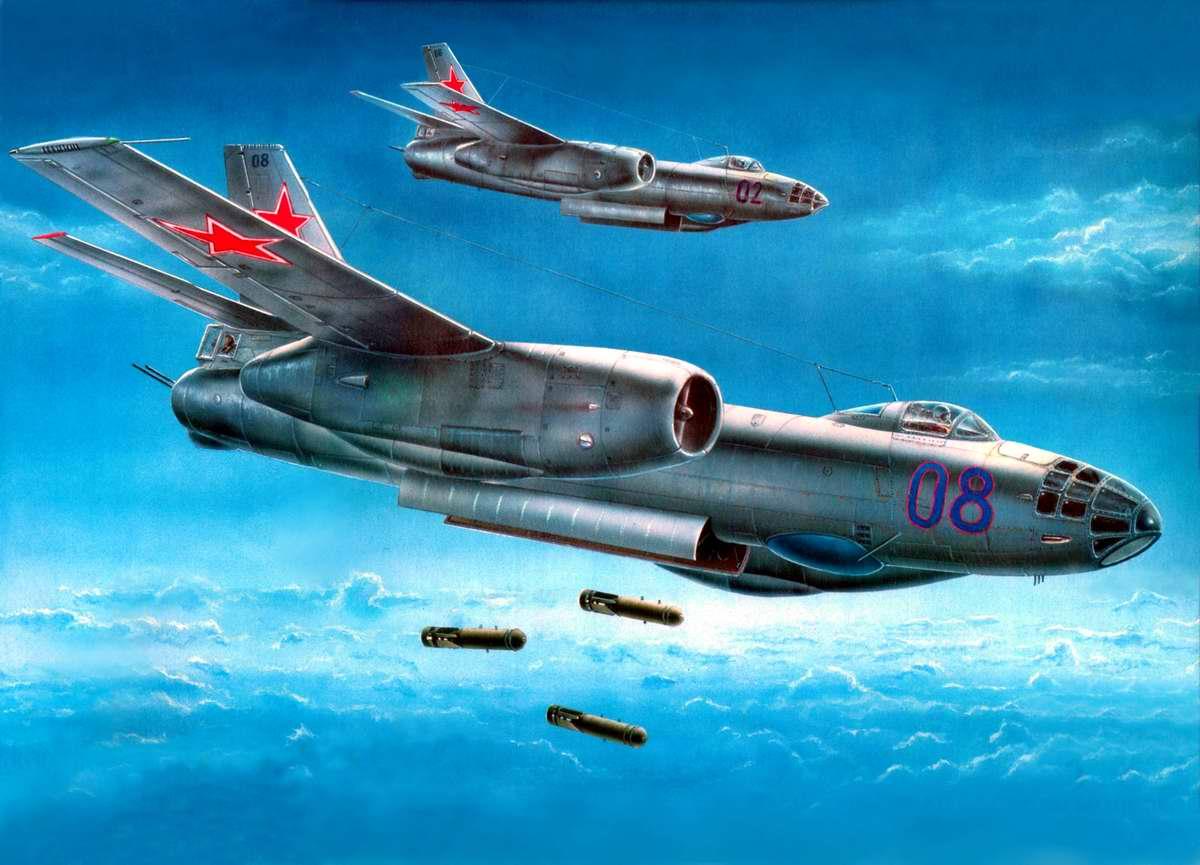 Советский реактивный фронтовой бомбардировщик Ил-28