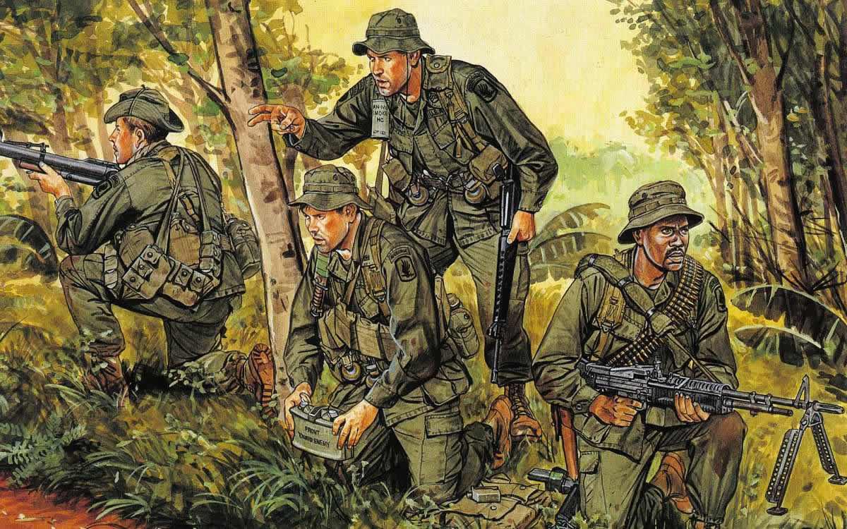 Американские солдаты в джунглях Вьетнама
