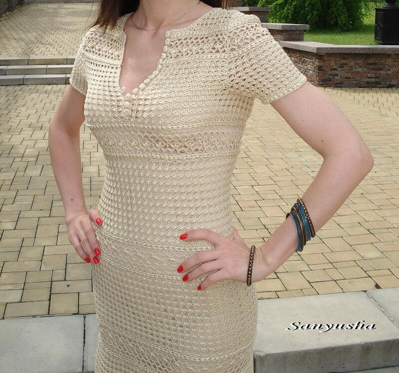Платье к лету вяжем