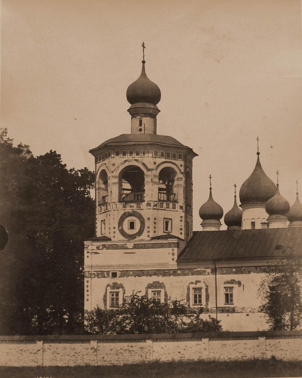 Вид колокольни Николо-Вяжищского монастыря (постройка к.XVII в.)