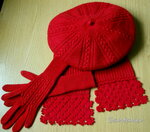 Берет, перчатки и шарфик. Фото 2