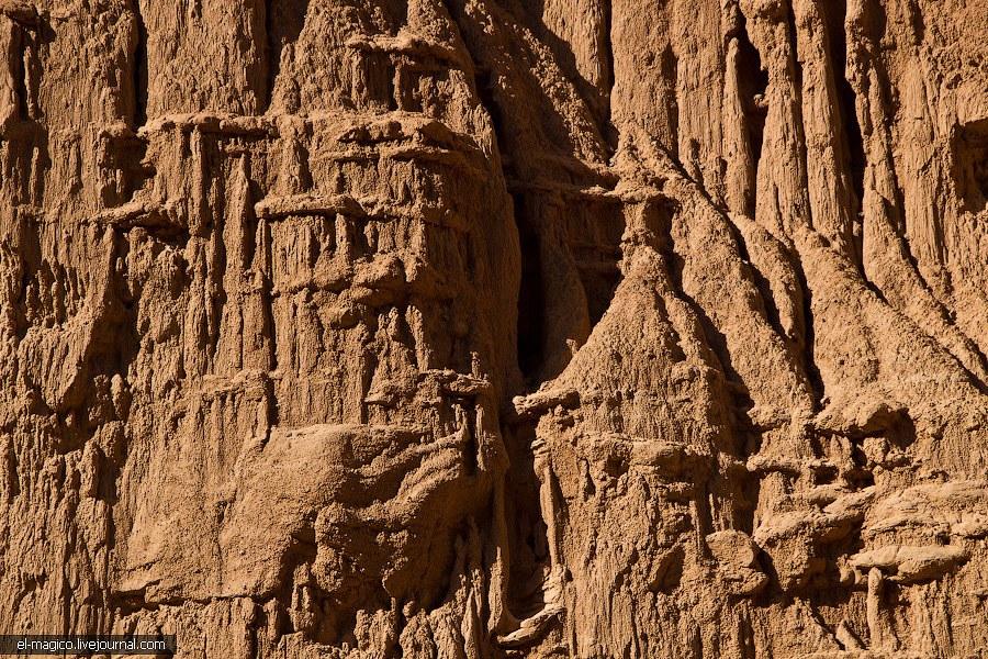 В некоторых местах стены практически идеально вертикальные. Эти красавцы состоят из красного палеоге