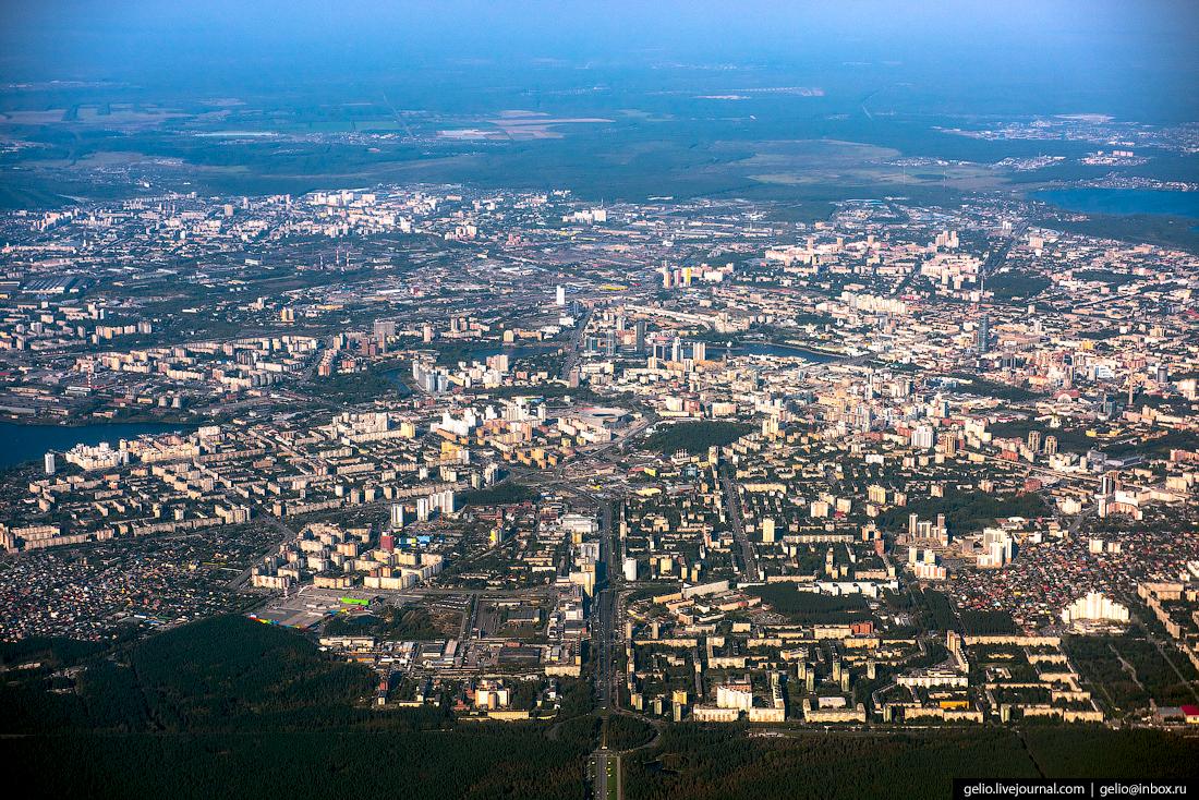 Екатеринбург. Фотографии из окна самолета