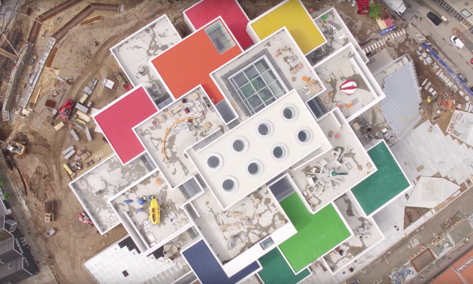 Amazing Drone Footage of the LEGO House in Denmark