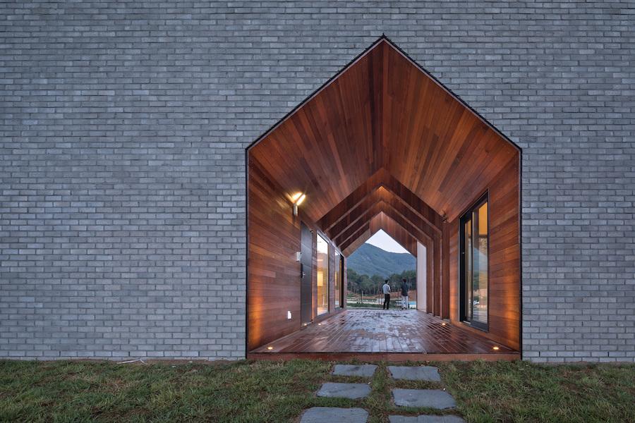 Houses housing geometric house design buildings korea cutting