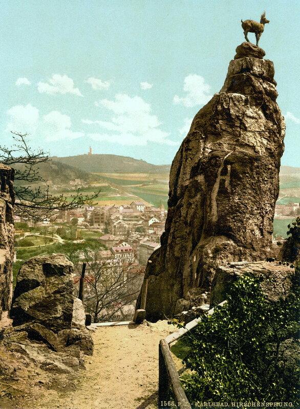 Скала Олений прыжок в конце XIX века
