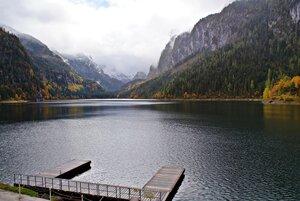 Осень у горного озера