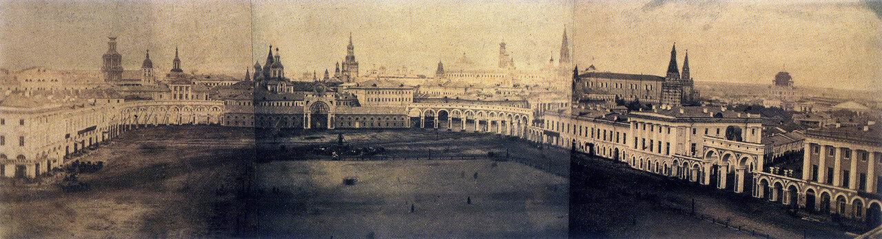 153354 Панорама Театральной площади перед коронацией Александра II.jpg