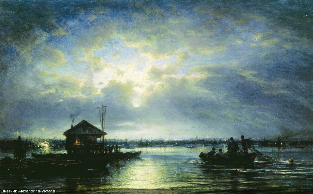 Летняя ночь на Неве у взморья, 1875, Третьяковская галерея