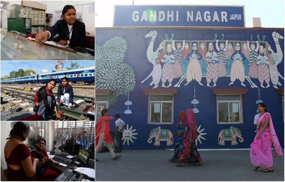 Станция в Индии, где работают одни женщины