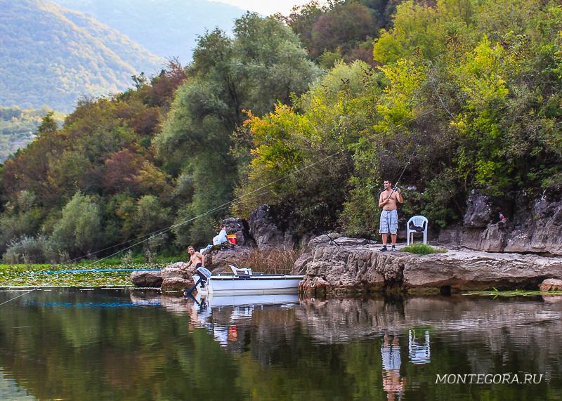 Рыбная ловля в Риеке Црноевича
